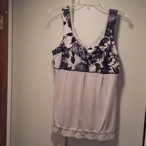 Lululemon size 12 floral athletic tank top